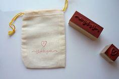 DIY stamped favor bags!