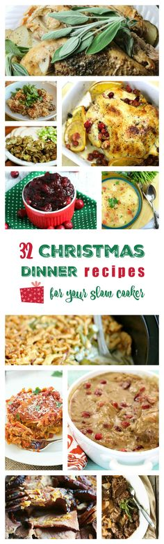 Yummers. Christmas Dinner recipes for the Crock Pot! Spend more time with friends and family and less time fussing over the oven. (From Homemaking Hacks; thanks for including a couple of my recipes!)