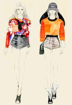 Teri Chung's Balenciaga s/s 2012 illustration