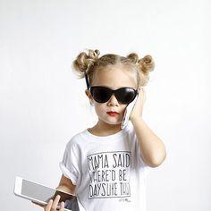 Kids 'Mama Said' Tee | Little Adi + Co | #mylittleadi | Click link to shop: http://www.littleadi.com/collections/tees/products/mama-said-crew-tee