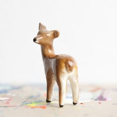 Handmade Animal ~Power Charms~ by leanimale Animal Totems, Deer, Etsy Seller, Fox, Teddy Bear, Clay, Ceramics, Creative, Animals