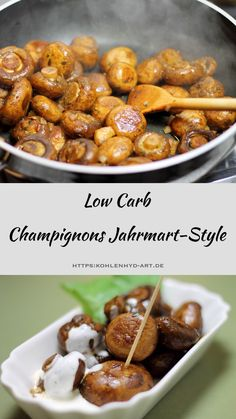 Champignons Jahrmarkt-Style – Low Carb Fried mushrooms as from the fair, Christmas market or the fair. Tasty and low carb Healthy Low Carb Recipes, Healthy Eating Tips, Diet Recipes, Paleo Food, Paleo Diet, Best Mushroom Recipe, Fried Mushroom Recipes, Fried Mushrooms, Stuffed Mushrooms