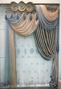 Window coverings are important parts of a room's decor. Curtains have become an essential part of interior designs today. Curtains And Draperies, Home Curtains, Curtains Living, Modern Curtains, Hanging Curtains, Valances, Drapery, Window Coverings, Window Treatments