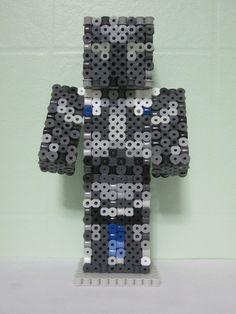 Furious Destroyer Minecraft Skin 3D_Perler Beads