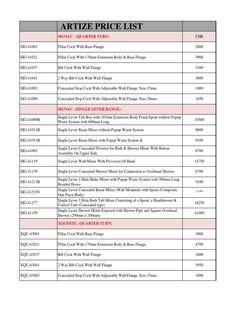 Jal bath fittings price list pdf
