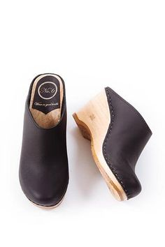 New School Clog in Black by No.6 #wmgoods