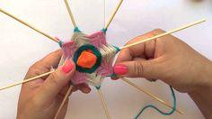 Tutorial de Mandalas Tejidos - Cómo hacer punta de estrella