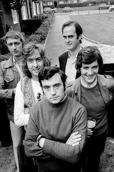 """vintagemarlene: """" zestyblog: """"Monty Python """" monty python's flying circus (maybe terry gilliam is the photographer here…) """" Tagged with: terry jones, eric idle, john cleese. graham chapman, michael..."""