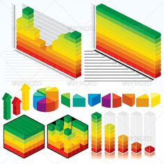 Collection of Isometric Graphs - GraphicRiver Item for Sale