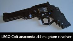 """The Lego """"Colt Anaconda"""" Working Revolver Lego Guns, 44 Magnum, Lego Challenge, Lego Boards, Airsoft Gear, Lego For Kids, Cool Knives, Cars And Coffee, Anaconda"""