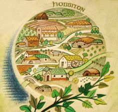 Hobbiton by Pauline Baynes