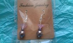 Pink and purple flower drops | Bronnley MISI Handmade Shop