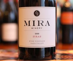 Mira Winery Hyde Vineyard Syrah 2009 - Seriously Good Syrah. To submerge or not to submerge, that is the question.  From the winery that recently submerged wine in the Charleston harbor to determine the effects of aging wine underwater. #winelover