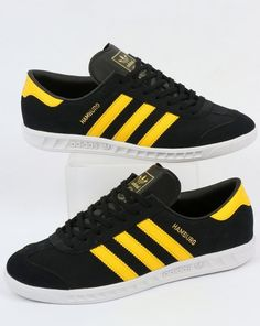 Adidas Hamburg Trainers BlackYellowWhite