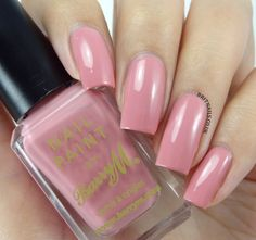 Barry M 'Ballerina' (Nail Paints) ~ a beautifully soft, dusty pink crème ~ 2 coats glossy finish ~ swatch by Brit Nails