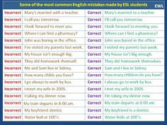 Forum | . | Fluent LandSome of The Most Common English Mistakes | Fluent Land