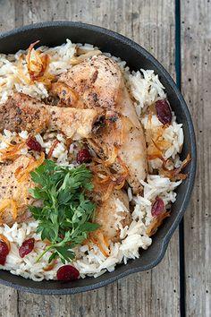 One pot crunchy chicken with cardamom rice