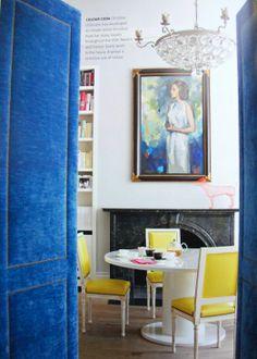 Blue velvet doors featured in Decorate & Pin by Bright.Bazaar / on Intriguing.Interiors | Pinterest | Doors ...