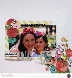 Hello everybody, how are you today? Caroli here, and on this Sunday I want to share with you my first project using the fabulous April kit Origins, which features beautiful collection Life in Color…