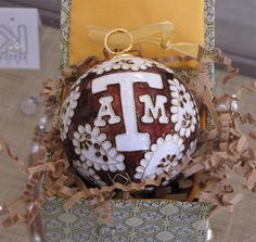 Texas A&M Ornament...too bad my tree is blue and silver.