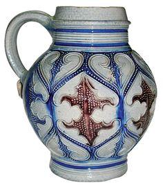 Westerwald salt-glazed jug