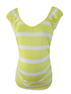 Sunny Yellow Striped Tee by Inspire Maternity - Maternity Clothing - Flybelly Maternity Clothing