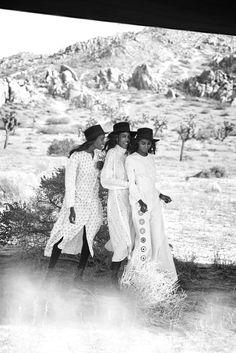 Leila Nda, Aya Jones, Imaan Hammam, Malaika Firth, Tami Williams, Kai Newman By Peter Lindbergh for Vogue US March 2015 7