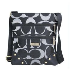 #CoachOnlines Wow, Worth it! Cofortable and cheap! Coach Stud In Signature Small Black Crossbody Bags DQA