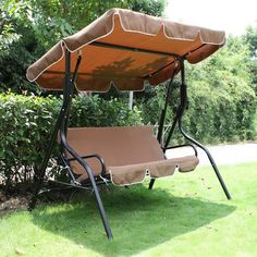 Garden Treasures 3Seat Cushioned Porch Swing Lowe's