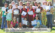 Monte Vista Christian Students of Month - August 2013