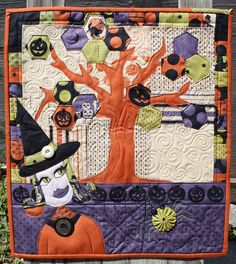 Cute Halloween doll quilt!