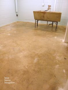 Paint concrete vinyl tiles and best deals on pinterest - Painting basement floor painting finishing and covering ...