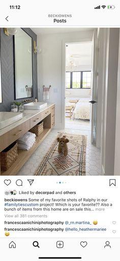 Guest Bed, Home Reno, Double Vanity, Entryway Tables, Bathtub, Mirror, Furniture, Master Bath, Bathrooms
