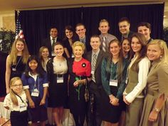 Phyllis Schlafly and Teen Eagles at Eagle Forum Council XLI