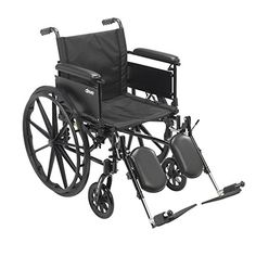 Drive Medical Cruiser X4 Lightweight Dual Axle Wheelchair with Adjustable Detachable Arms Full Arms Elevating Leg Rests 20 Seat ** Find out more by clicking the image