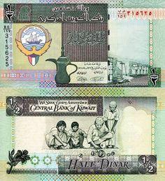 KUWAIT ½ Dinar Banknote World Currency Money BILL p24 Note Asia Bill Alt Sign in Coins & Paper Money | eBay