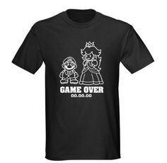 2XL and up Mario Game Over Tshirt by SomethingBlueDesigns on Etsy