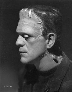 """Boris Karloff en """"La novia de Frankenstein"""", 1935"""