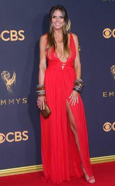 Heidi Klum from 2017 Emmys Red Carpet Arrivals