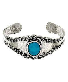Look at this #zulilyfind! Turquoise & Sterling Silver Filigree Cuff #zulilyfinds