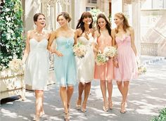Gorgeous pastel bridesmaids