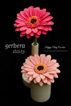 Crochet Gerbera Daisy pattern by Happy Patty Crochet