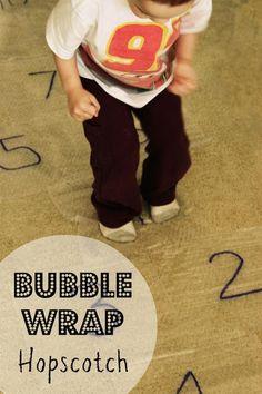 Kids Craft: Bubble Wrap Hopscotch