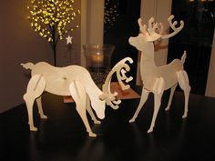 Small Wooden Reindeer - Unpainted
