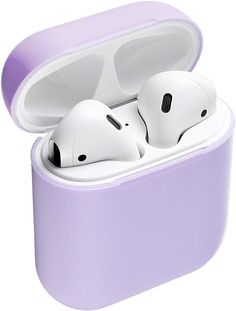 Deppa Lavender Protective Ultra Thin Soft Premium Light Purple Airpods Case Silicone Cover Without Keychain [Compatible with Aipods 1 and 2 Generation] Cute Ipod Cases, Iphone Cases, Accessoires Iphone, Music Headphones, Air Pods, Airpod Case, Iphone Accessories, Apple Products, Light Purple