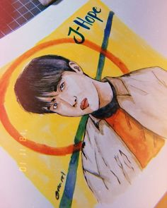 Bts J Hope, Kpop Fanart, Artworks, Disney Characters, Fictional Characters, Fan Art, Watercolor, Disney Princess, Watercolor Painting