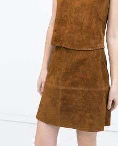 ZARA - WOMAN - SEAMED SKIRT WITH TRIMMED WAIST
