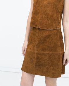 Imagem 2 de SAIA COM CORTES DE FANTASIA NA CINTURA da Zara