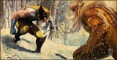 Wolverine vs Sabertooth by Admira Wijaya. Marvel Wolverine, Marvel Comics, Wolverine Cosplay, Logan Wolverine, Marvel Heroes, Comic Book Characters, Marvel Characters, Comic Character, Comics