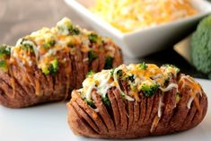 Big Bear's Wife: Broccoli and Cheese Hasselback Potatoes #12Bloggers